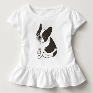 Say hello to the cute double hooded pied Frenchie Toddler T-Shirt