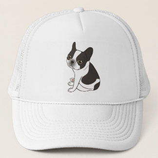 Say hello to the cute double hooded pied Frenchie Trucker Hat