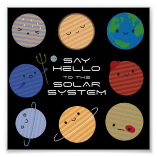 Say Hello to the Solar System! Poster