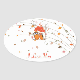 SAY I LOVE YOU OVAL STICKERS