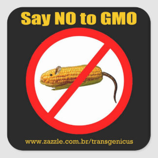 "Say IN GMO Stiker 3 "" x3 "" Square Sticker"