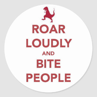 Say it loud classic round sticker