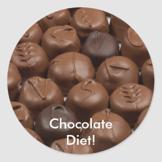 Say it with Chocolate! Round Sticker