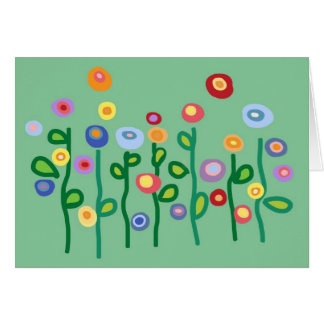 Say it with flowers greeting card
