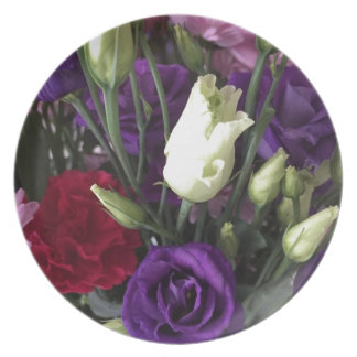 Say Love you with Flowers Plate