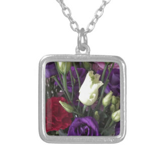 Say Love you with Flowers Silver Plated Necklace