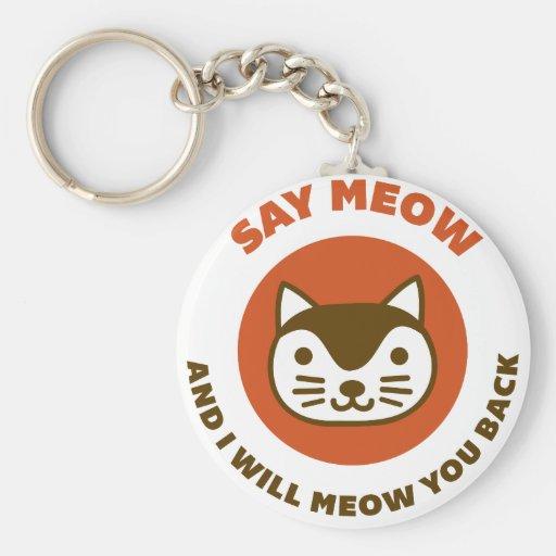 Say Meow Key Chain