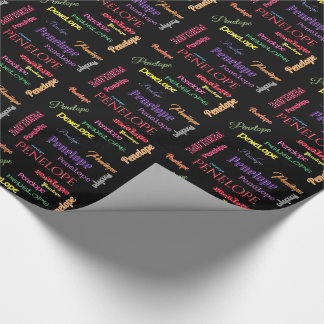 Say My Name Your Name Here Wrapping Paper