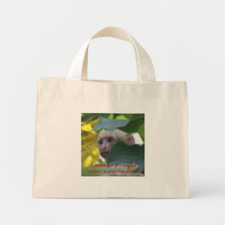 """Say """"neither"""" to paper or plastic mini tote bag"""