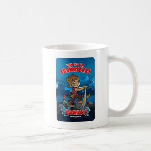 Say no to brainz! coffee mug
