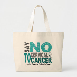 Say NO To Cervical Cancer 1 Large Tote Bag