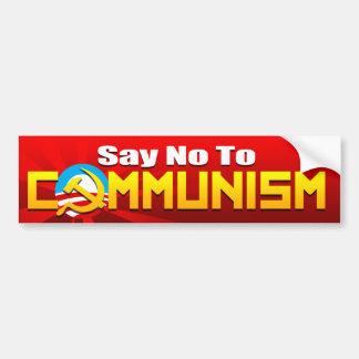 Say No To Communism Bumper Sticker