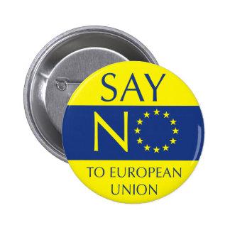 Say NO to European Union 6 Cm Round Badge