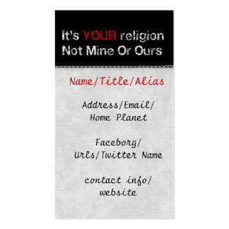 Say No To God Cults Double-Sided Standard Business Cards (Pack Of 100)