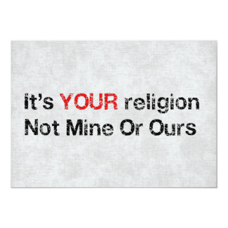 "Say No To God Cults 5"" X 7"" Invitation Card"