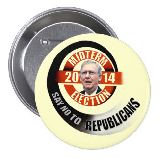 Say no to Mitch McConnell 7.5 Cm Round Badge