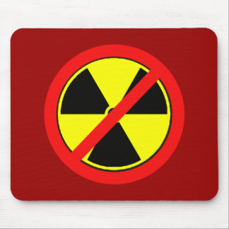 Say NO to Nuclear Power and Radiation Tshirts Mouse Pad
