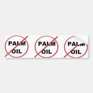 SAY NO TO PALM OIL BUMPER STICKER