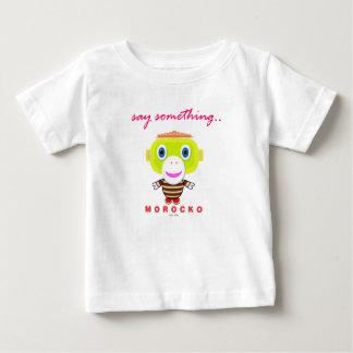 Say Something-Cute Monkey-Morocko Baby T-Shirt