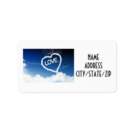SAY *THANK YOU* WITH SKY WRITING ADDRESS LABEL