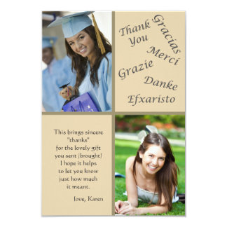 Say Thanks Photo Thank You Notes 9 Cm X 13 Cm Invitation Card