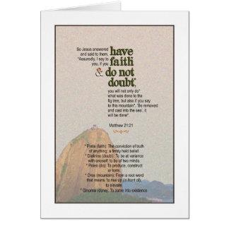 Say to the Mountain - Matthew 21:21 Card