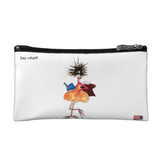 Say what? cute cosmetics bag by Just Jenkxe