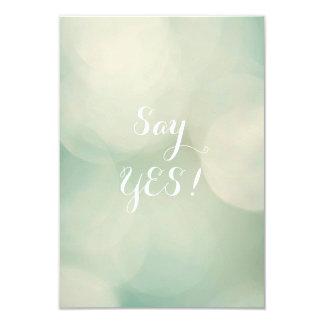 Say Yes! 9 Cm X 13 Cm Invitation Card