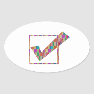 Say YES: make them ALL HAPPY: Greetings lowprice Oval Sticker