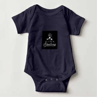 Say Yes To New Adventures Baby Bodysuit