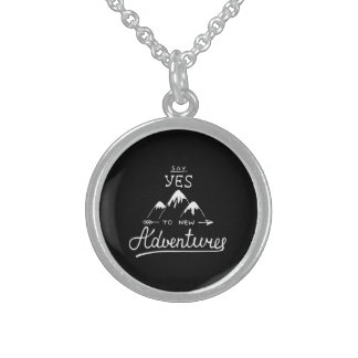 Say Yes To New Adventures Sterling Silver Necklace