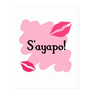 S'ayapo - Greek I love you Postcard