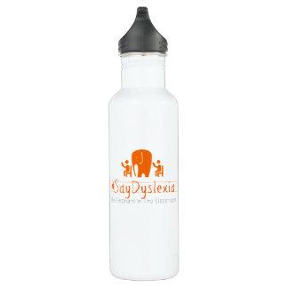 #SayDyslexia Custom Water Bottle (24 oz), White 710 Ml Water Bottle