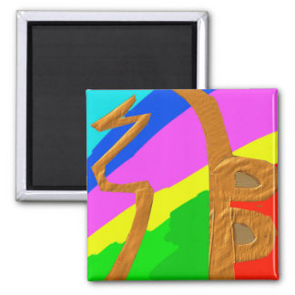Sayhayki   Gold Rainbow - For Healing and Luck Square Magnet