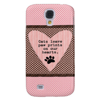 Saying Cats Paw Hearts Case iPhone 3G/3GS Galaxy S4 Case