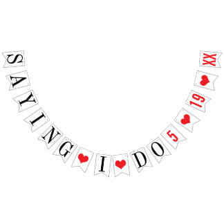 SAYING I DO: PERSONALIZED WEDDING DATE BUNTING