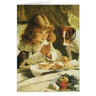 Saying Our Prayers, Suspense Charles Burton Barber Card