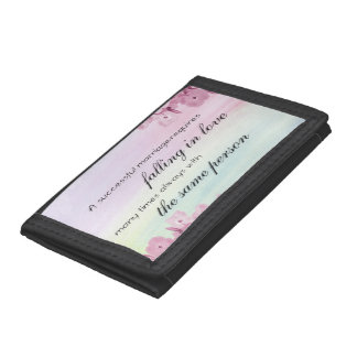 Saying Quote Tri-fold Wallets