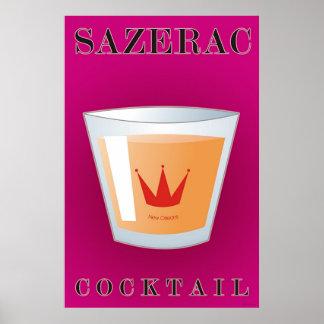Sazerac Cocktail Poster