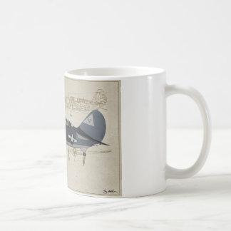 SB2C-Helldiver World-War-2 Dive-Bomber Coffee Mug