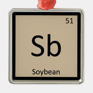 Sb - Soybean Chemistry Periodic Table Symbol Metal Ornament