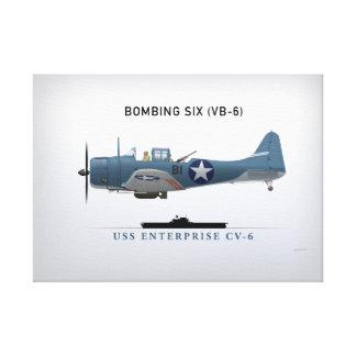SBD Dauntless Dive Bomber of Bomber Six (VB-6) Canvas Print