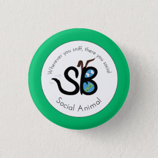 SBM Earth Day Social Animal Logo Mini Button Pin