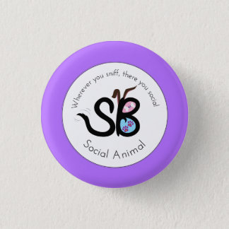SBM Moms & Prom Social Animal Logo Mini Button Pin