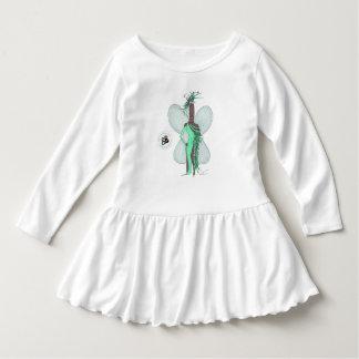 SBM Pseudo Celebrity Green Feather Fashion Dress