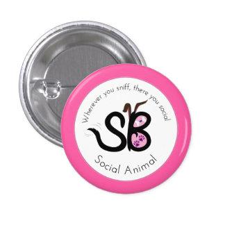 SBM Valentine Social Animal Logo Mini Button Pin