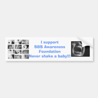 SBS Awareness Foundation bumper sticker
