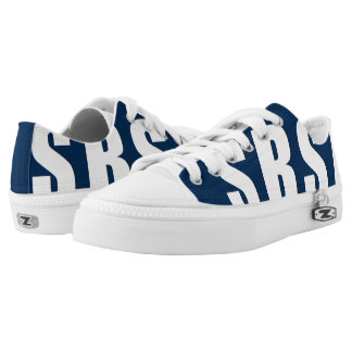 SBSA Low Cut Navy Blue and White Tennis Shoes Printed Shoes