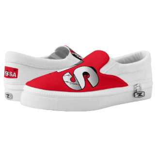 SBSA Red & White Slip on Tennis Shoes Printed Shoes