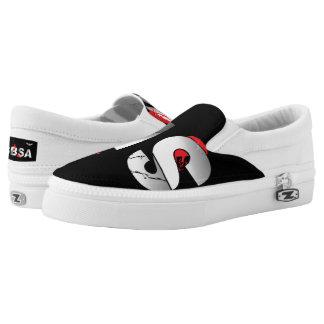 SBSA Slip On Black and White Tennis Shoe Printed Shoes